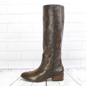 Frye Ray Seam Tall Distressed Leather Riding Boots